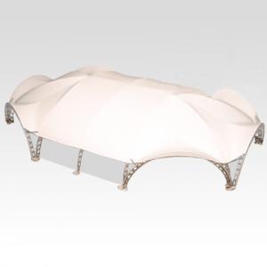 Арочный шатер гексагональ 21,7х15,6 (287 м²)