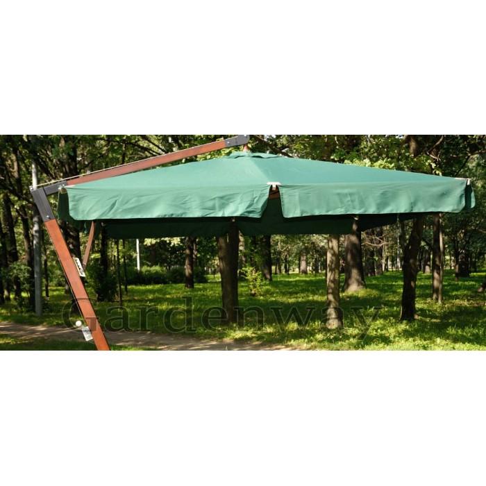 Зонт на боковой деревянной опоре
